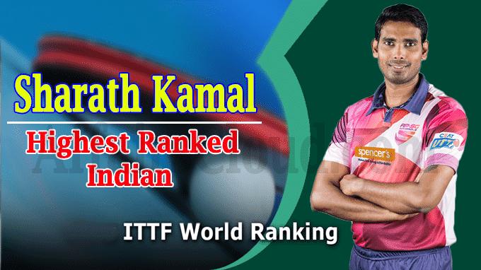 ITTF Rankings Sharath Kamal Is Highest