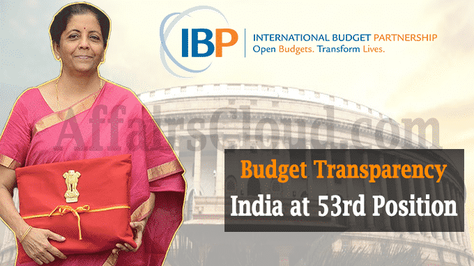India at 53rd position in budget transparency