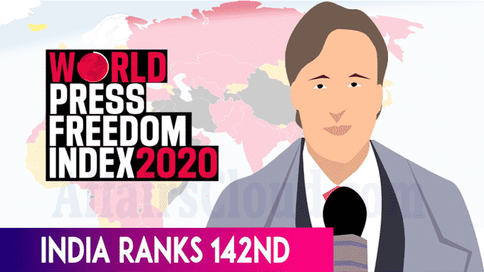 India drops two places on global press freedom index 2020