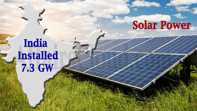 India installed Solar power
