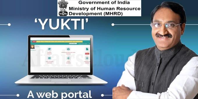 Minister Shri Ramesh Pokhriyal launches a web-portal YUKTI