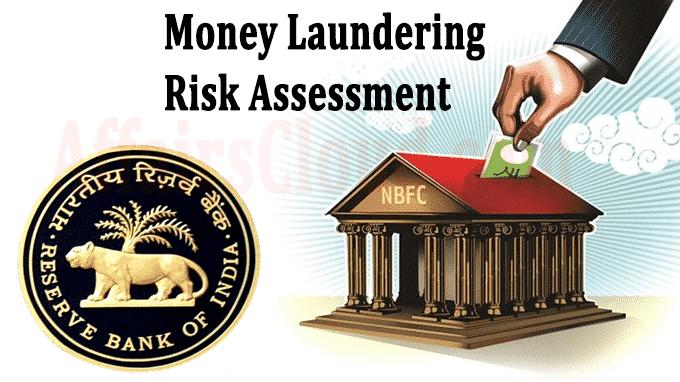 Money laundering risk assessment RBI