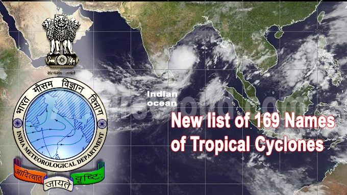 New list of 169 names of tropical cyclones