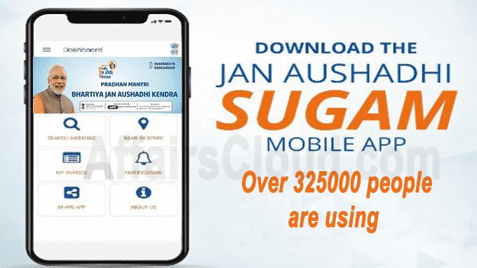 Over 325000 people are using Janaushadhi Sugam