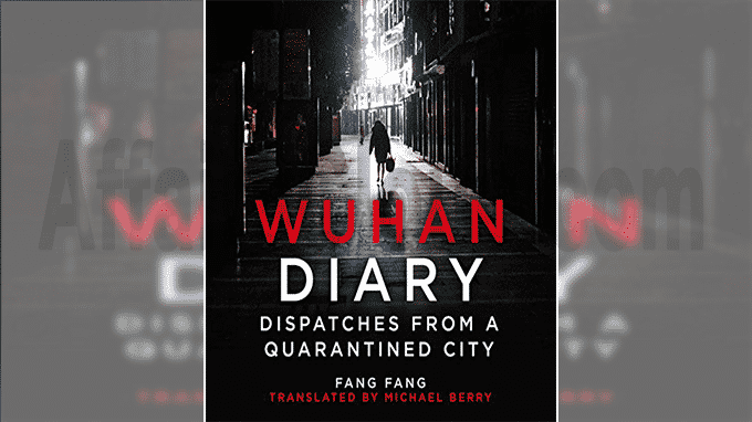 A book titled Wuhan Diary Dispatches from a Quarantined City
