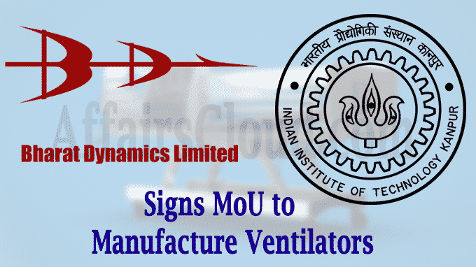 BDL signs MoU with IIT Kanpur to manufacture ventilators