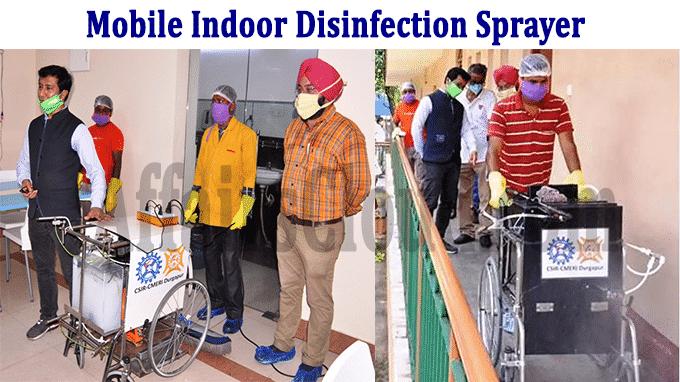 CSIR-CMERI develops two mobile indoor disinfection sprayer