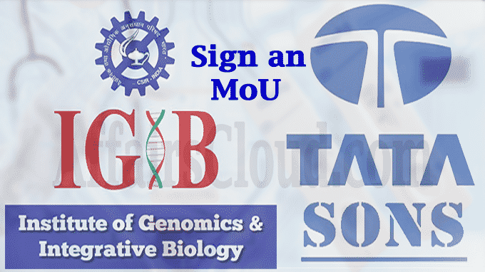 CSIR IGIB and TATA Sons sign an MoU