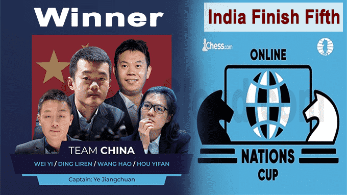 China wins Online Nations Cup,India holds fifth