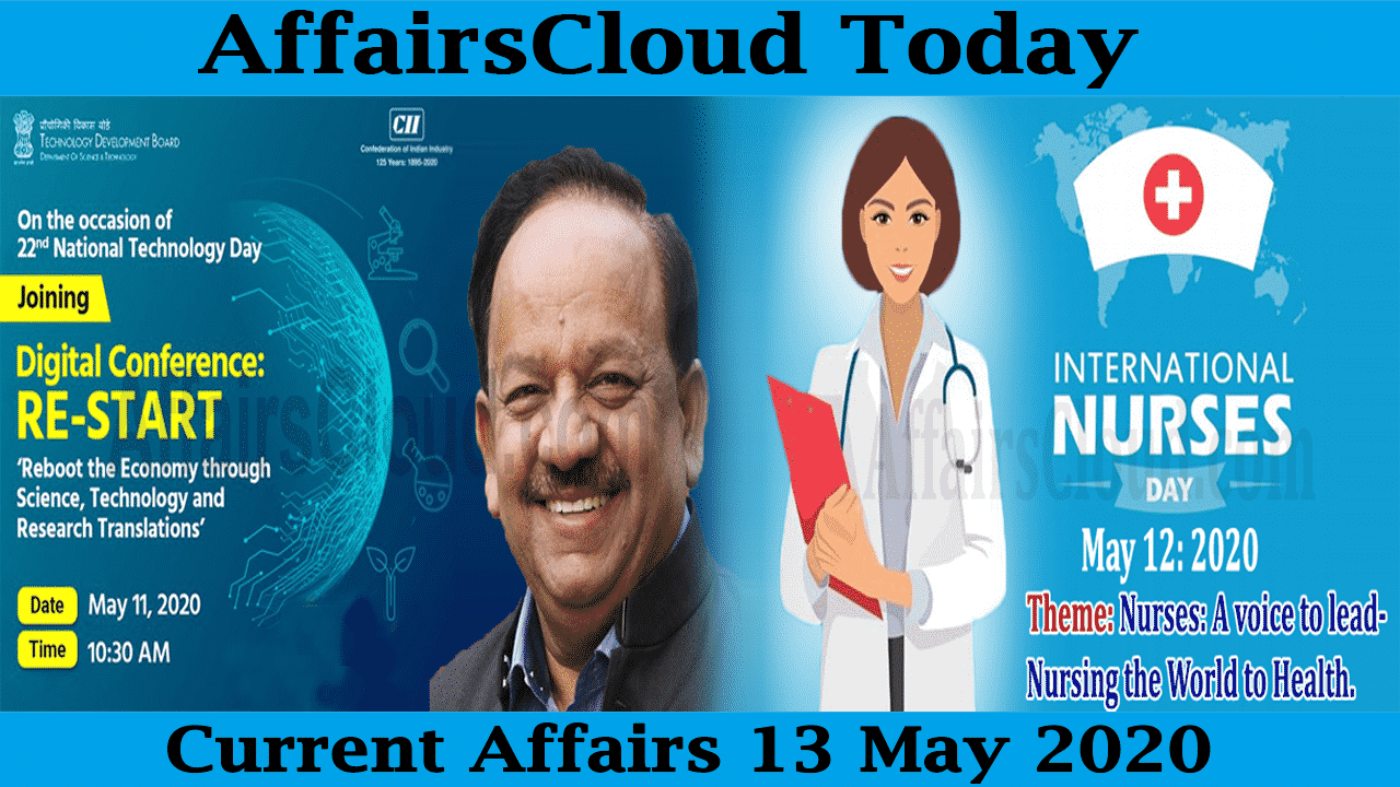 Current Affairs May 13 2020