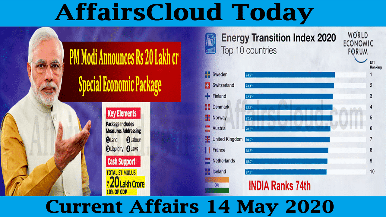 Current Affairs May 14 2020