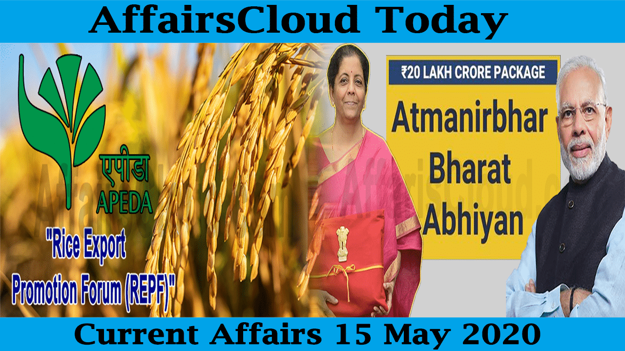 Current Affairs May 15 2020