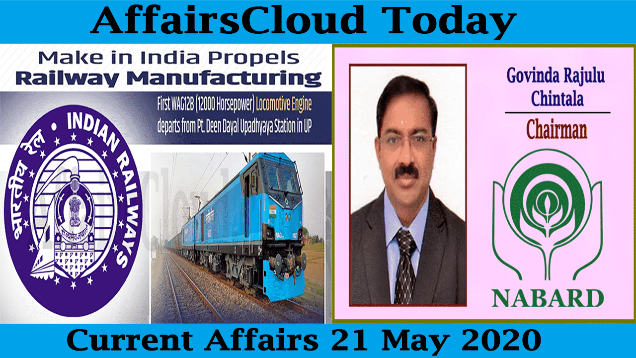 Current Affairs May 21 2020