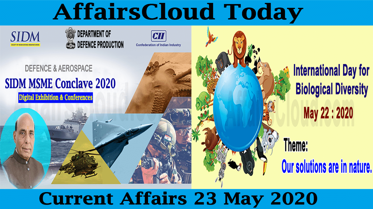 Current Affairs May 23 2020