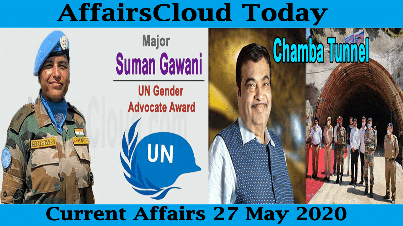 Current Affairs May 27 2020