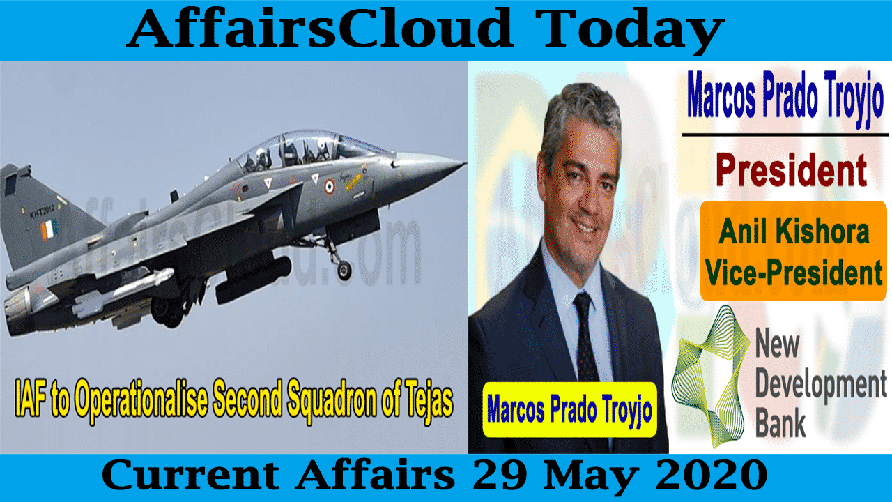Current Affairs May 29 2020