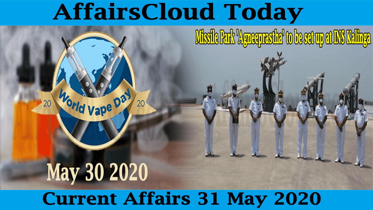 Current Affairs May 31 2020