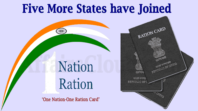 Five more states have joined the One Nation One Ration Card