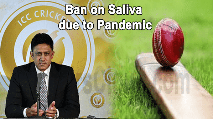 ICC committee recommends ban on saliva due to pandemic