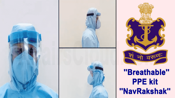 Indian Navy breathable PPE kit NavRakshak