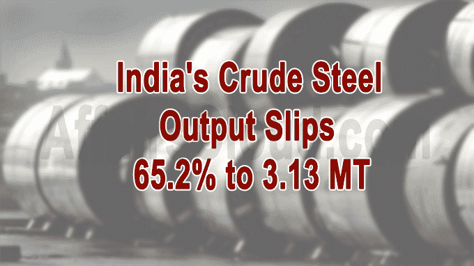 India's crude steel output declines new