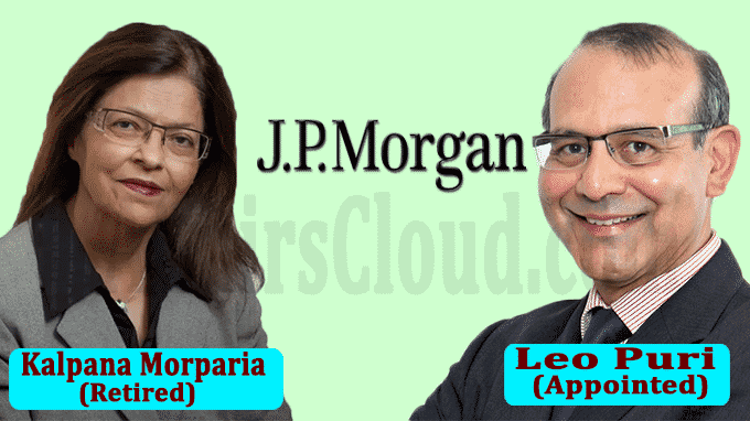 JPMorgan's Kalpana Morparia set to retire, Leo Puri to take over