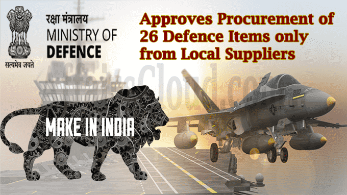MoD approves procurement of 26 defence items only from local suppliers
