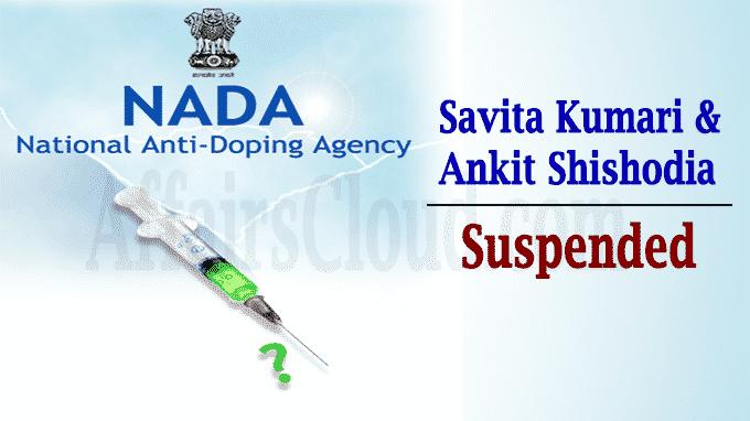 NADA provisionally suspends Savita Kumari Ankit Shishodia