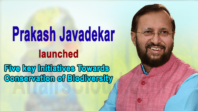 Prakash Javadekar launched five key initiatives