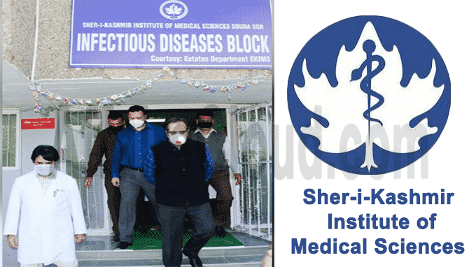SKIMS in Srinagar Infectious Disease Block facility