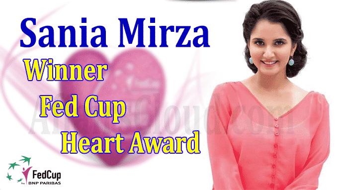Sania Mirza win Fed Cup Heart Award