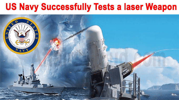 US Navy successfully tests a laser weapon