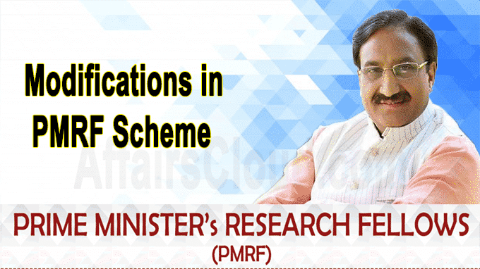Union HRD Minister announces modifications in PMRF Scheme