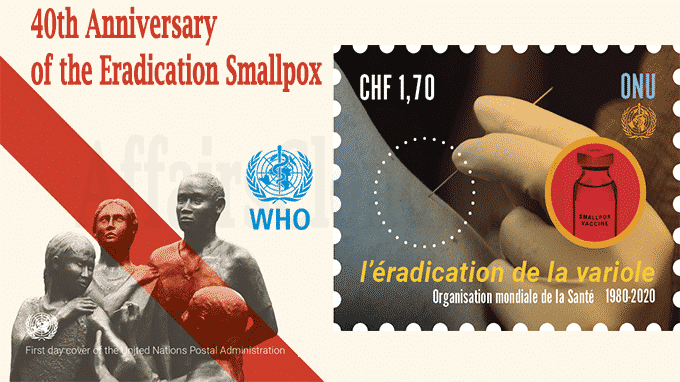 WHO release stamp 40th anniversary of smallpox eradication