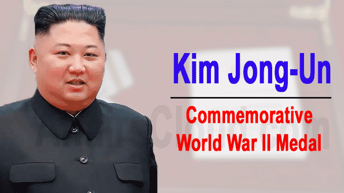 commemorative World War II medal to Kim Jong-un