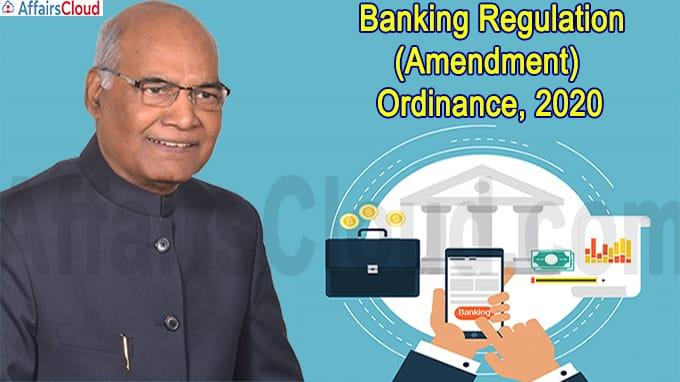 Banking Regulation (Amendment) Ordinance, 2020