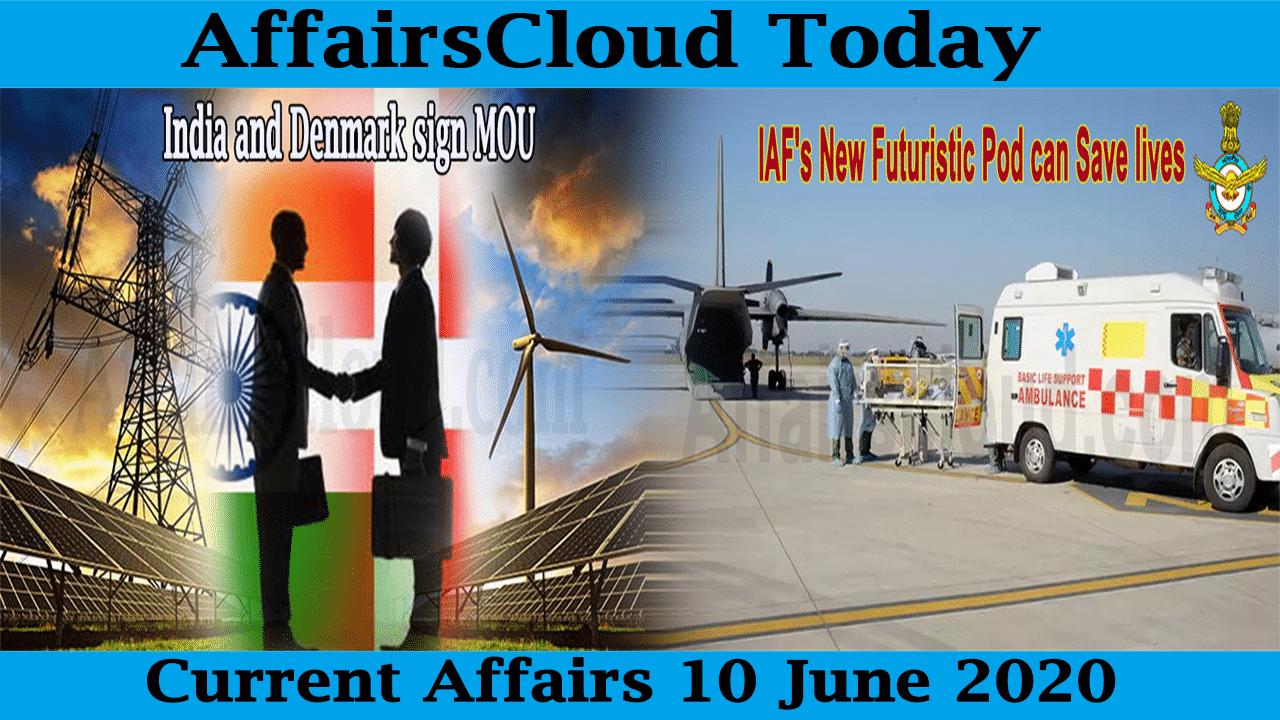 Current Affairs June 10 2020