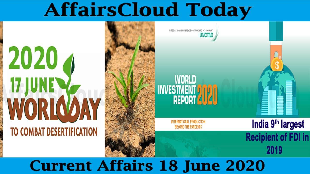 Current Affairs June 18 2020 new