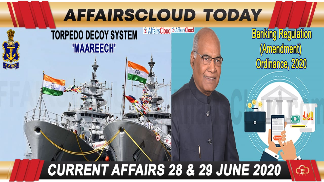 Current Affairs June 28&29 2020 new