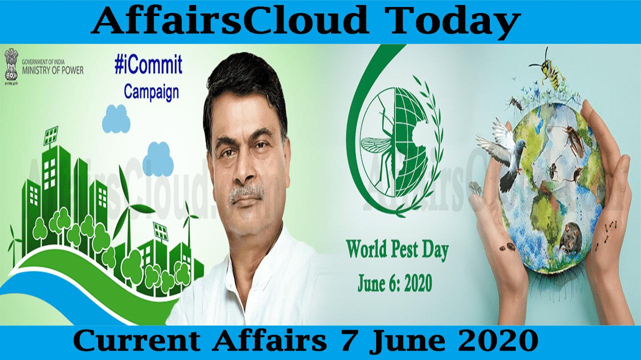 Current Affairs June 7 2020