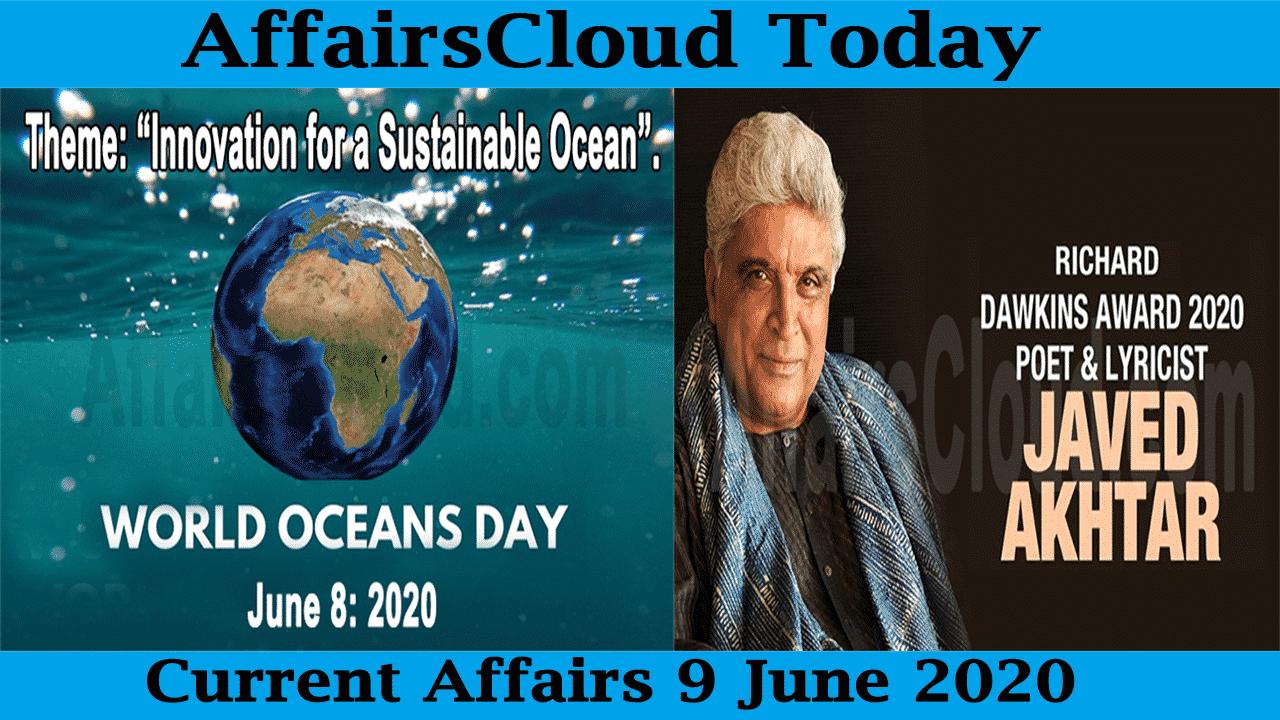 Current Affairs June 9 2020