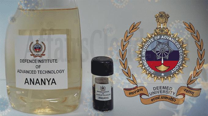 DIAT Pune develops Nanotechnology-based Disinfectant Spray ANANYA