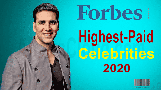 Forbes highest-paid celebrities 2020