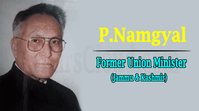 Former Union Minister, Congress leader P Namgyal