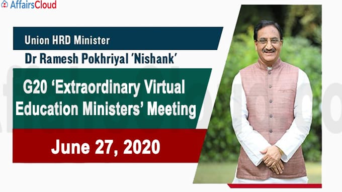 G20 Extraordinary Virtual Education Ministers Meeting new