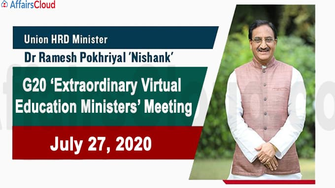 G20 Extraordinary Virtual Education Ministers Meeting