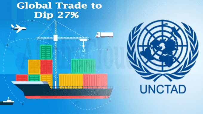 Global trade to dip 27pc