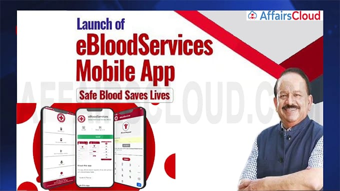 Health Minister Dr Harsh Vardhan launches eBlood Services