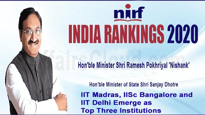 IIT Madras, IISc Bangalore and IIT Delhi emerge as top three institutions