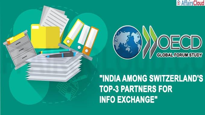 India among Switzerland's top-3 partners for info exchange